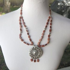 Super cool  sun stone necklace